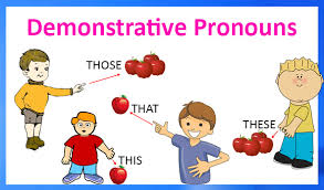 demostrative pronoun